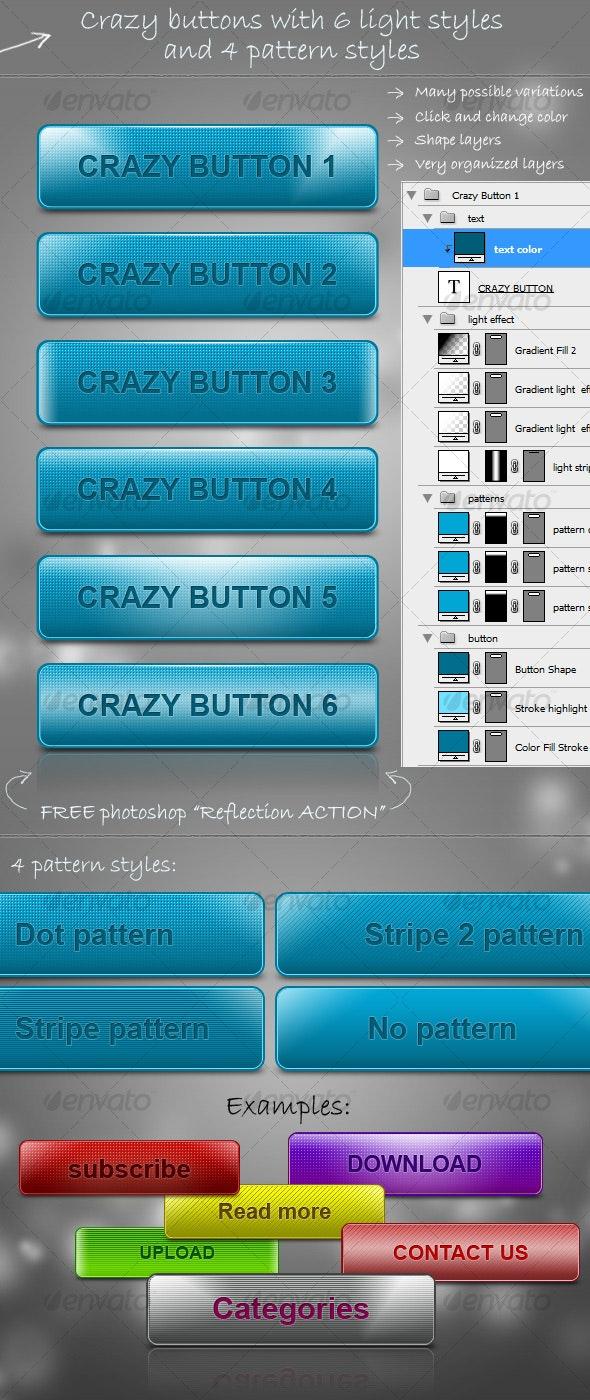 Crazy Buttons - Buttons Web Elements