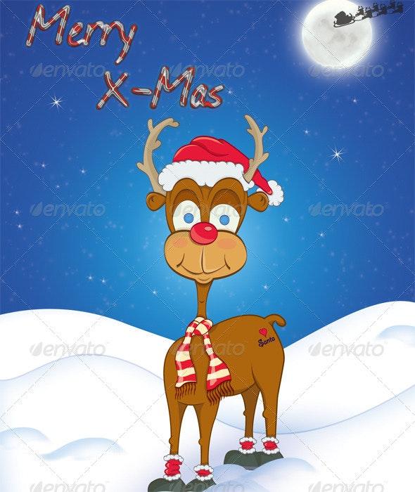 Merry Xmas Reindeer - Christmas Seasons/Holidays