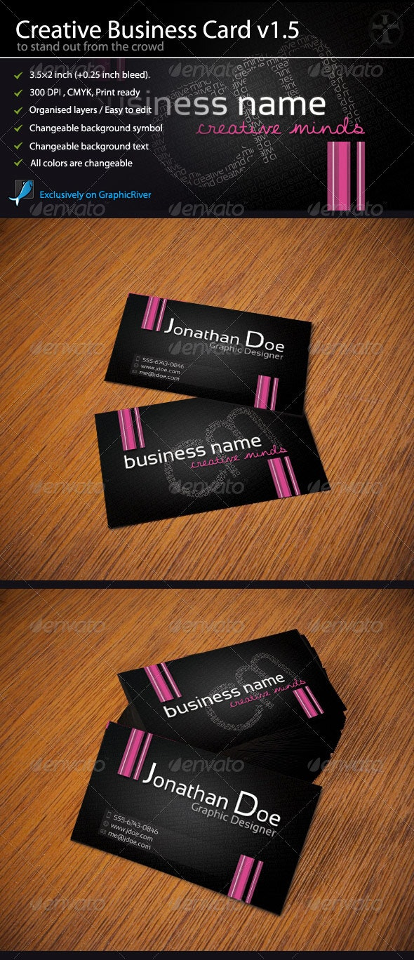Creative Business Card - Intelligent Typo - Creative Business Cards