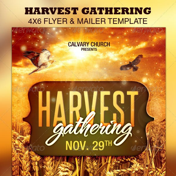 Harvest Gathering Church Flyer & Mailer Template
