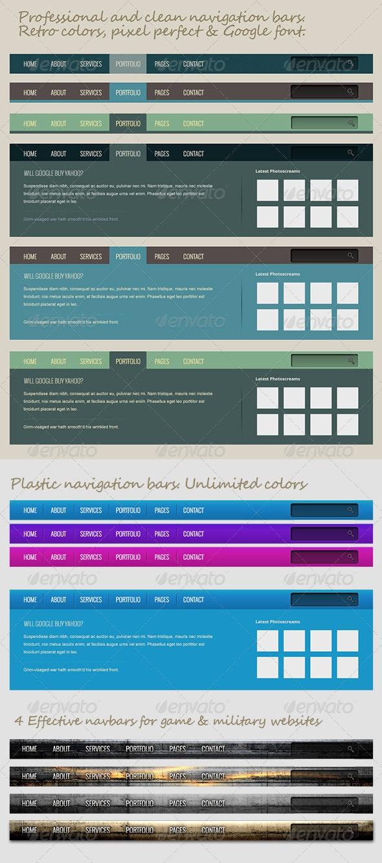 Professional Navigation Bars - Navigation Bars Web Elements