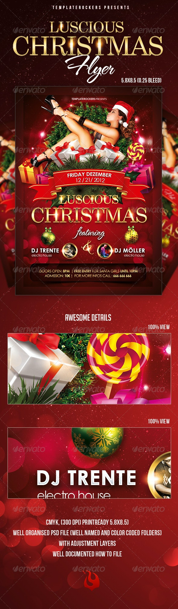 Luscious Christmas Flyer  - Clubs & Parties Events