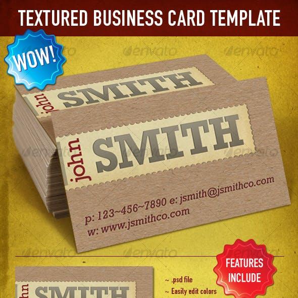 Textured & Letterpress Business Card Template