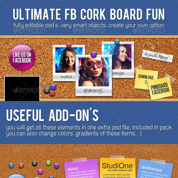 FB Cork Board Fun
