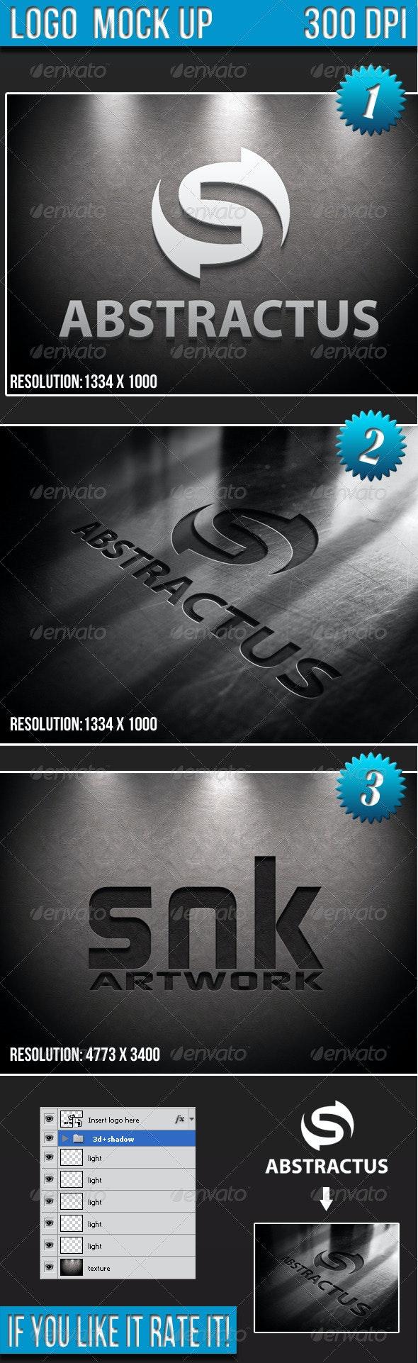 Logo Mock-up  - Logo Product Mock-Ups
