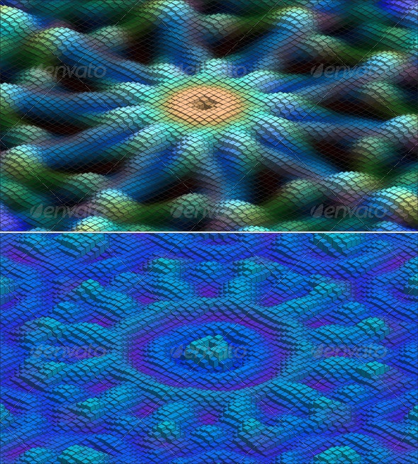 Abstract 3d Flowers Set - Flowers & Plants Nature