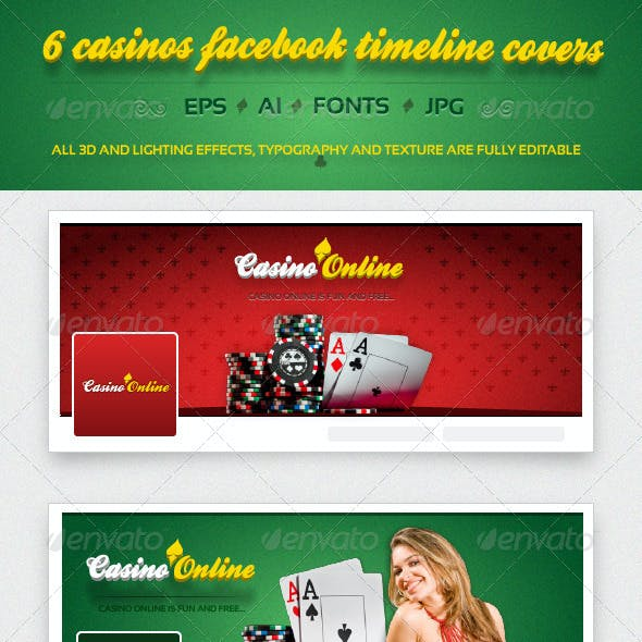 6 Casino FB Timeline Covers