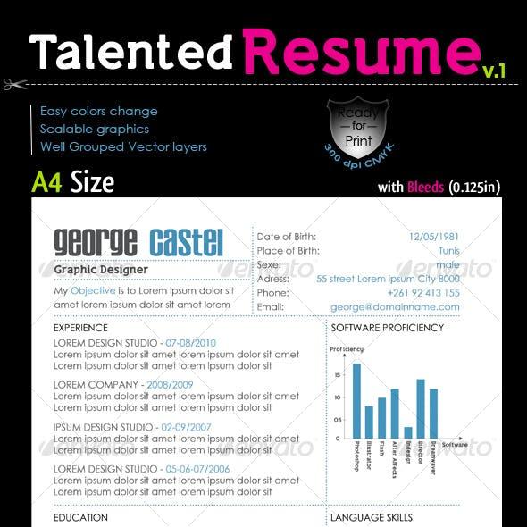 Talented Resume V.1