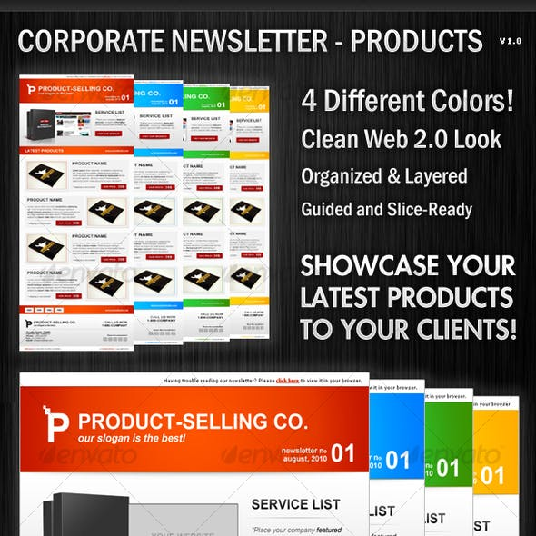 Corporate Newsletter Layout - Product Showcase