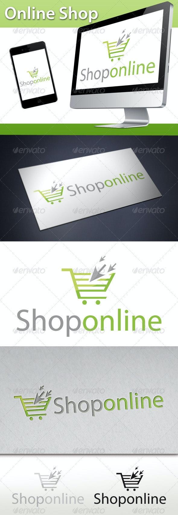 Online Shop Click Cart Logo - Objects Logo Templates