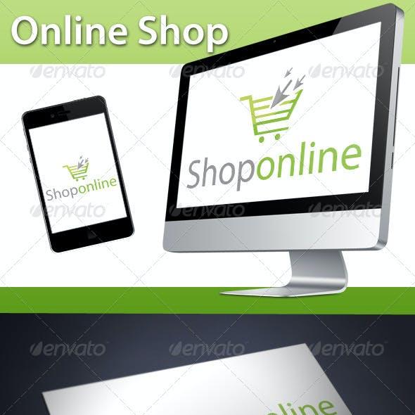 Online Shop Click Cart Logo