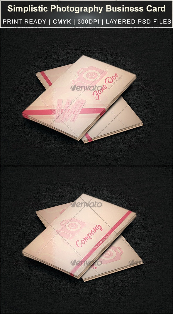 Simplistic Photography Business Card - Creative Business Cards