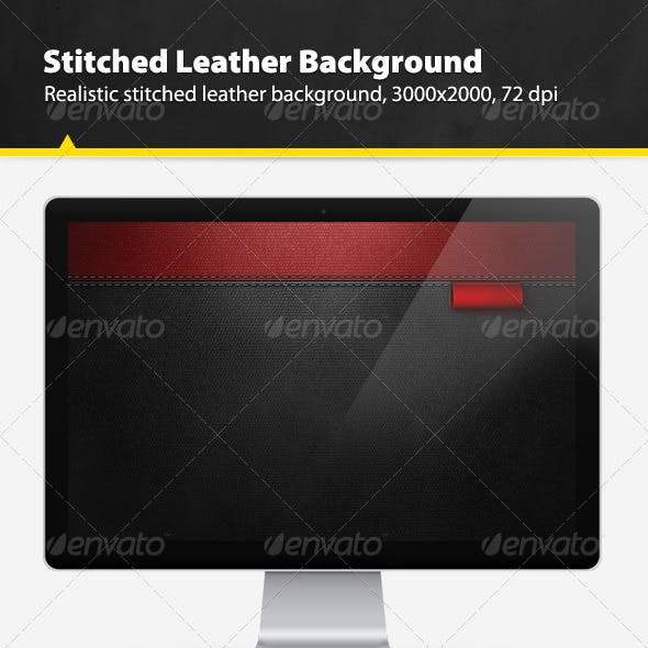 Realistic Stitched Leather Background