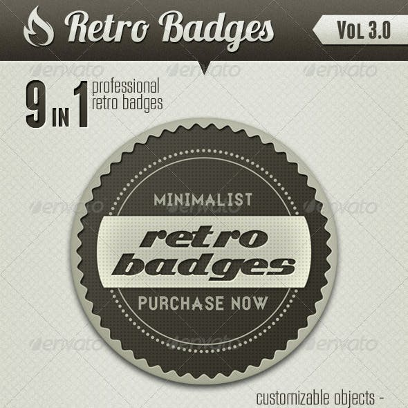 Retro Badges vol 3
