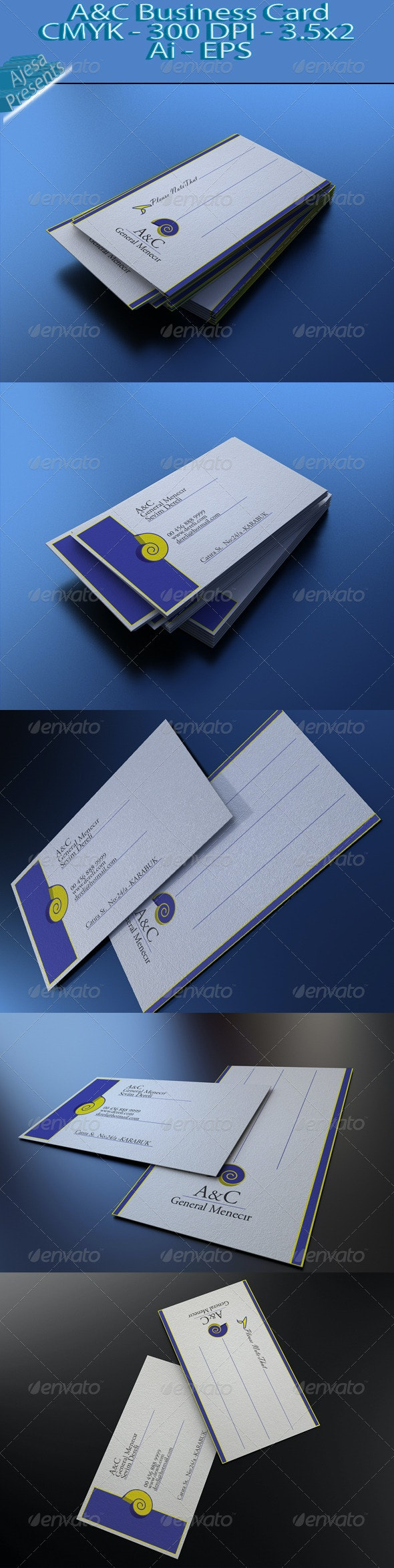 P&T Business Card - Business Cards Print Templates