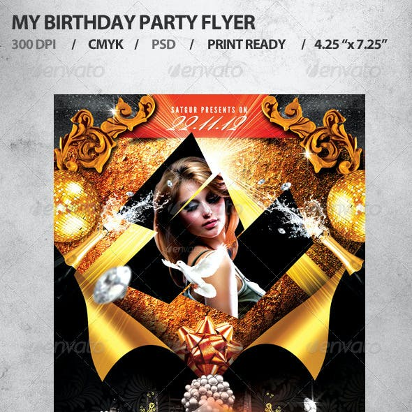 My Birthday Party Flyer