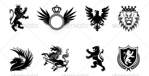 Heraldic designs - Decorative Symbols Decorative
