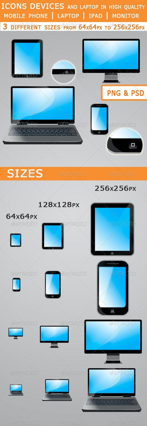 Set Icons of devices - Technology Icons