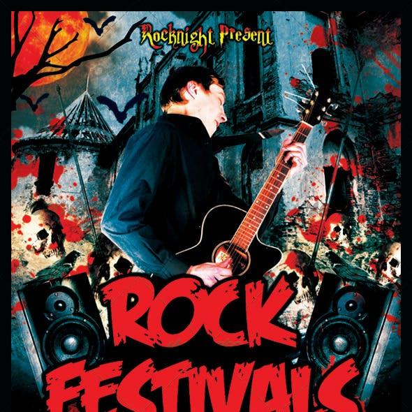 Rock Festivals Flyer Template