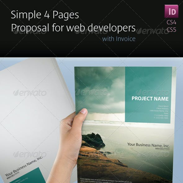 Simple 4 Pages Proposal for Web Developers