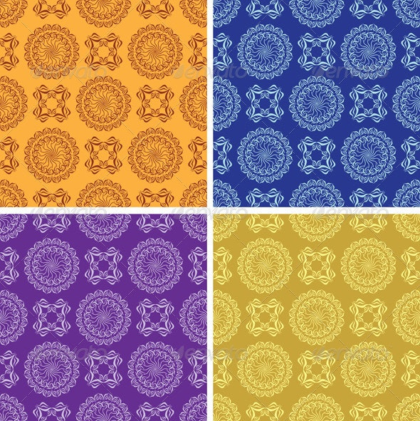 Light and Dark Vintage Seamless Patterns - Patterns Decorative