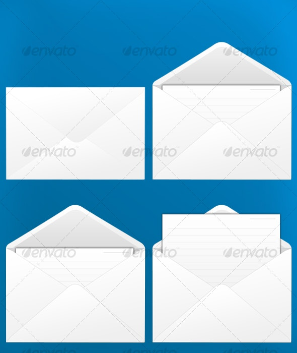 Mail Envelopes - Objects Illustrations