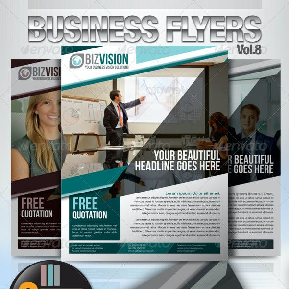Simple & Clean Corporate Flyer Vol.8