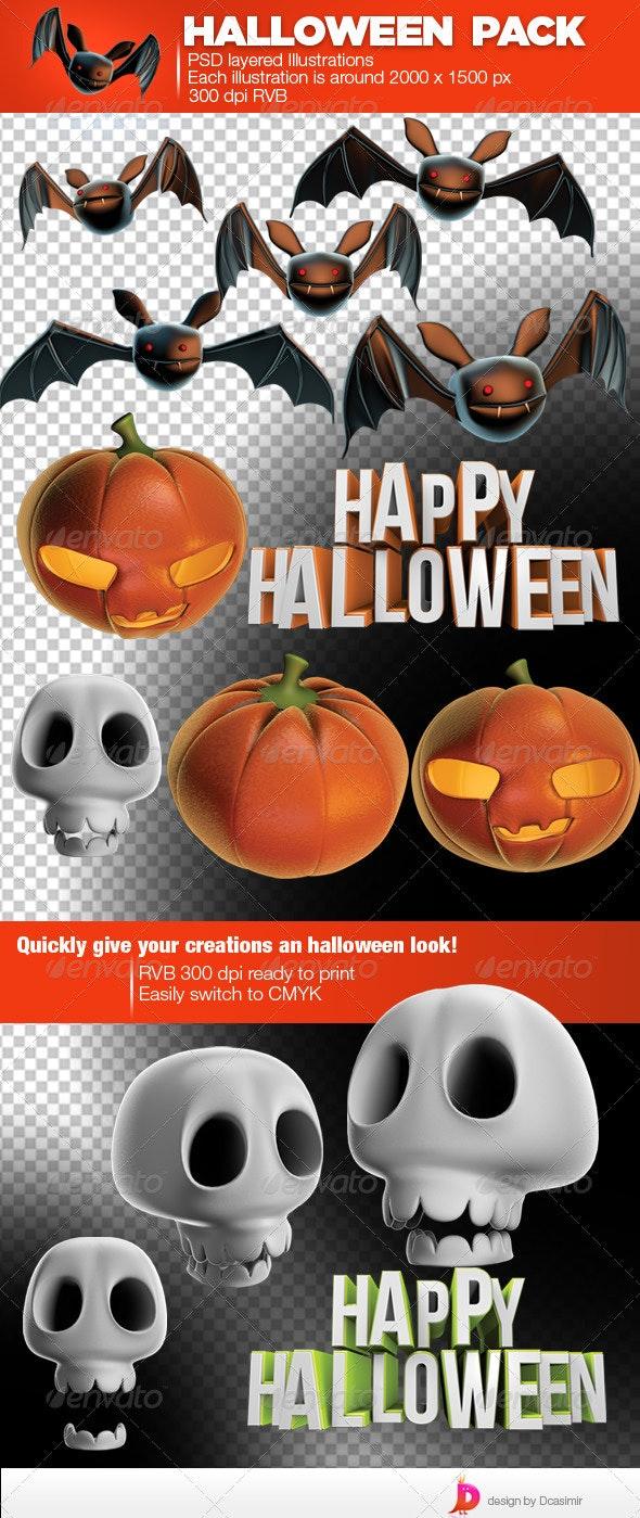 Halloween Pack - Characters 3D Renders