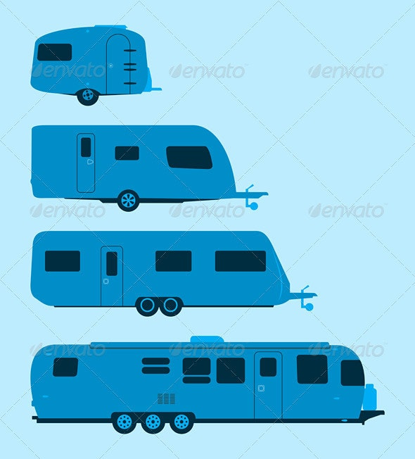 Caravan Silhouette - Travel Conceptual