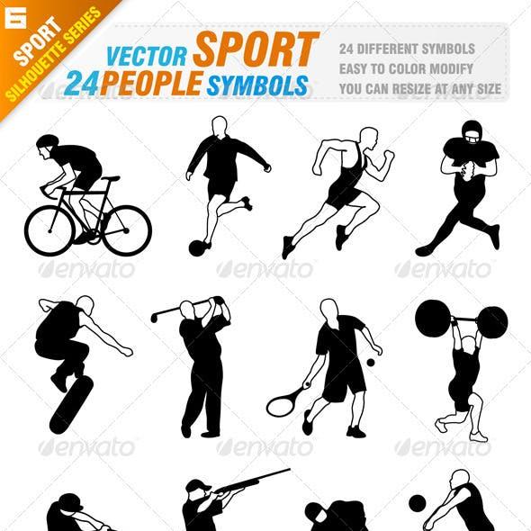 24 Sport people symbols