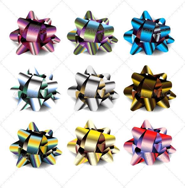 Vector Bow Set - Decorative Symbols Decorative