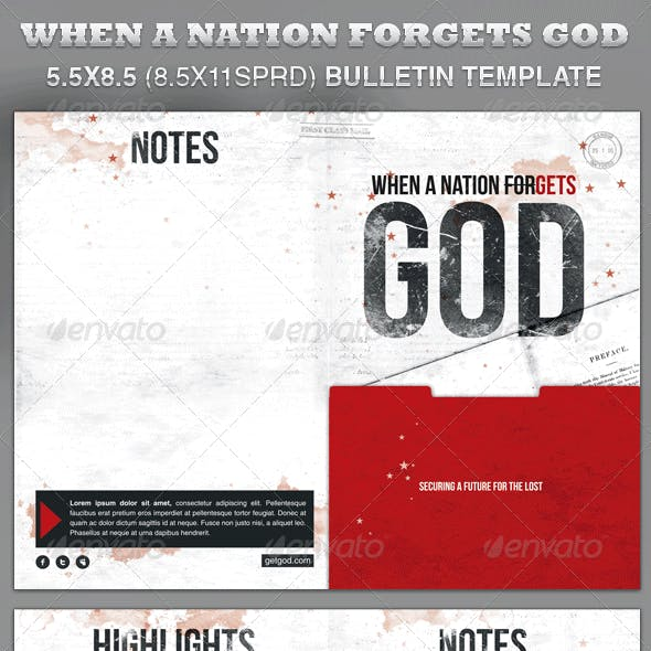 When a Nation Forgets God Bulletin Template