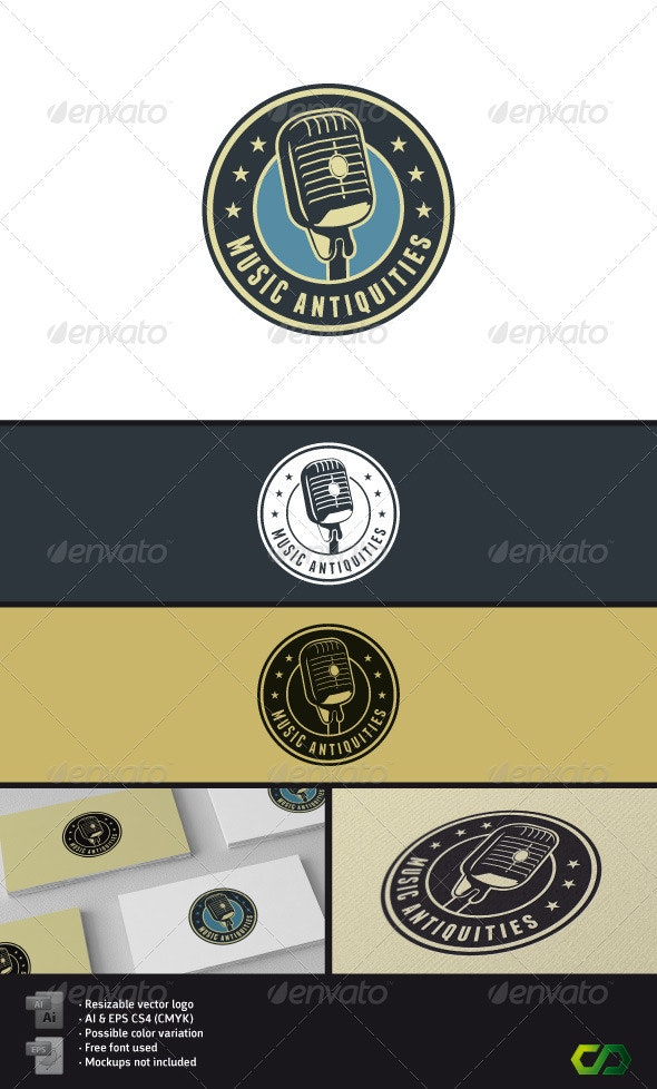 Music Antiquities Logo - Objects Logo Templates