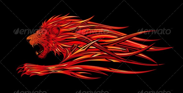 Flame Lion - Animals Characters