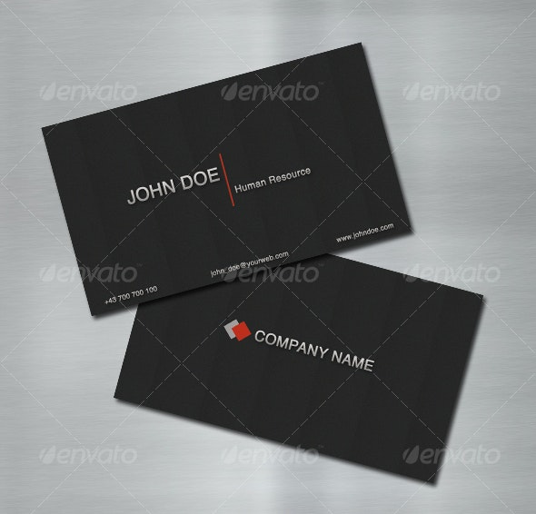 Modern Black Business Card - Corporate Business Cards