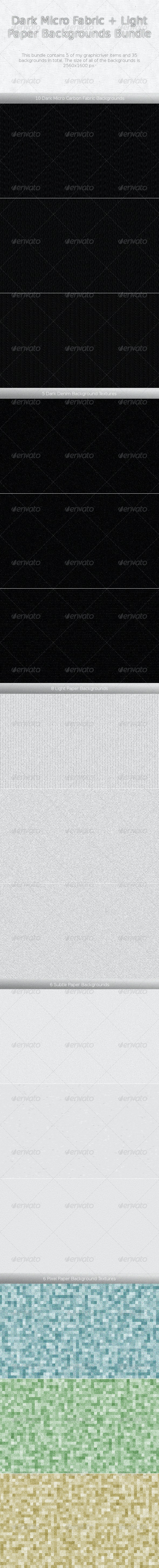 Dark Micro Fabric + Light Paper Backgrounds Bundle - Miscellaneous Backgrounds