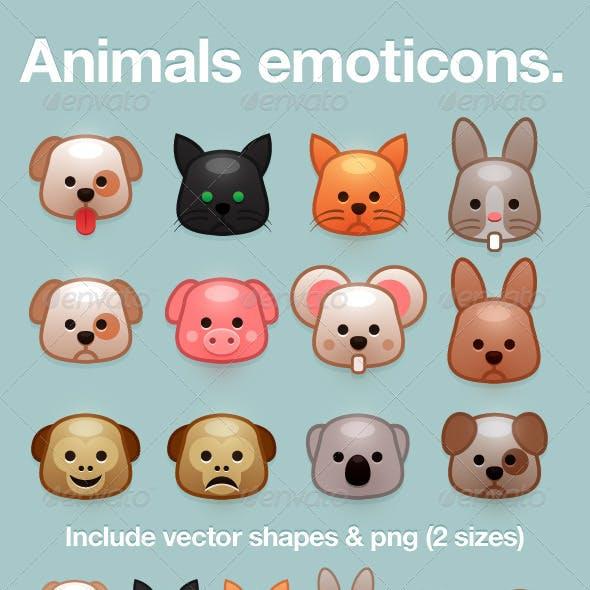Animal Emoticon Smileys