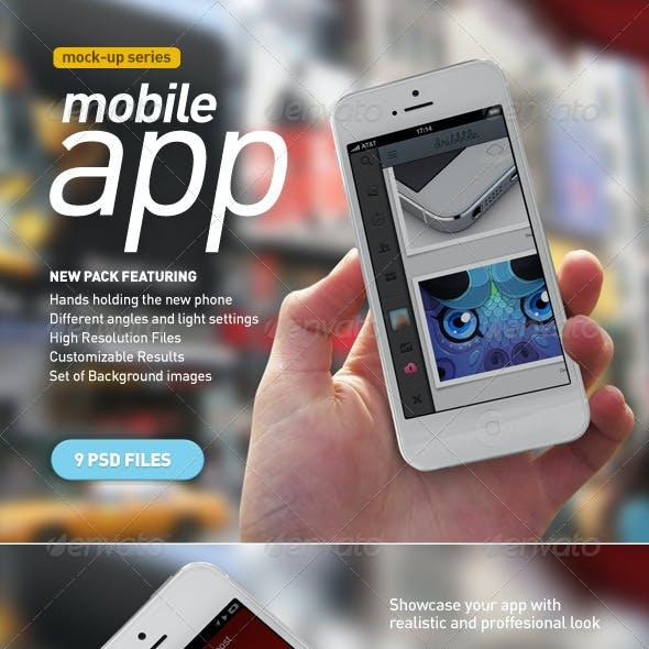 Mobile App | White Phone Mock-Up