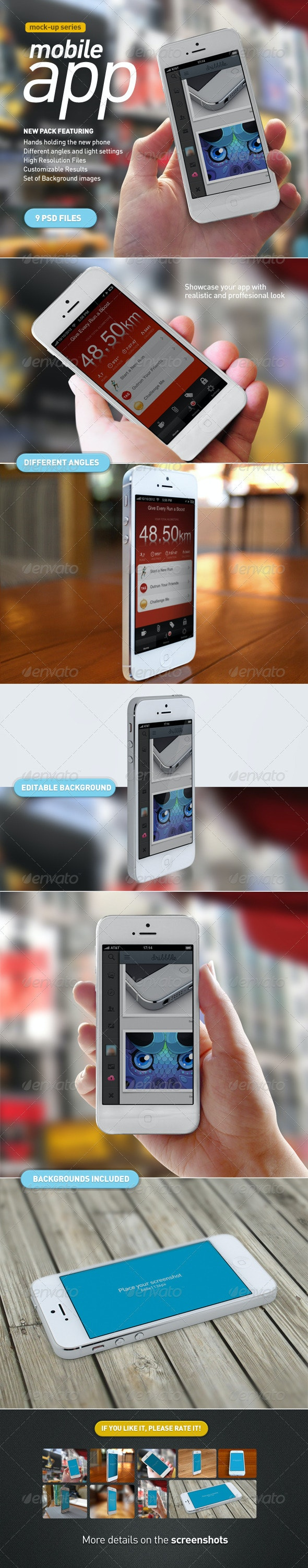 Mobile App | White Phone Mock-Up - Mobile Displays