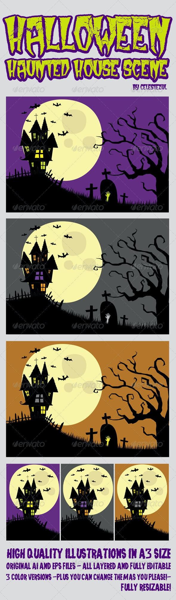 Halloween Haunted House - Halloween Seasons/Holidays