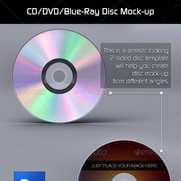 CD/DVD/Blue-Ray Disc Mock-up