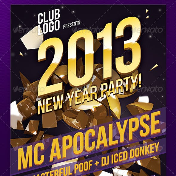 New Year Party Flyer 2013