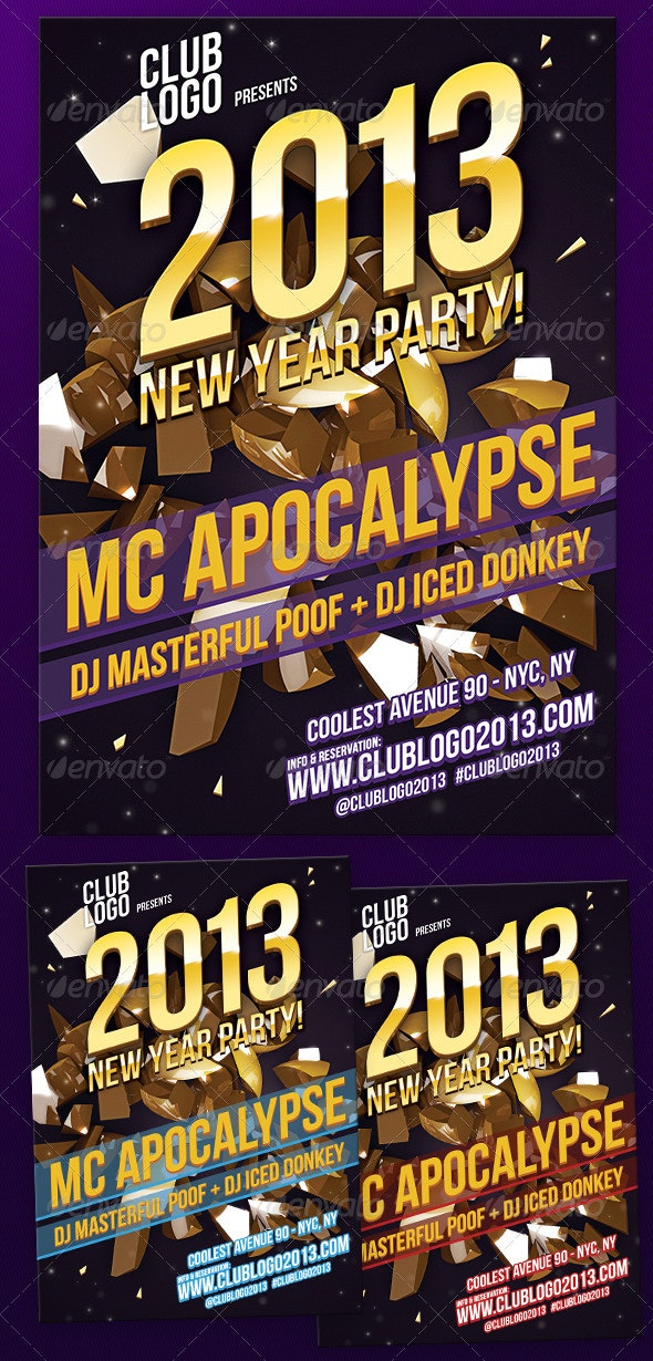 New Year Party Flyer 2013 - Clubs & Parties Events