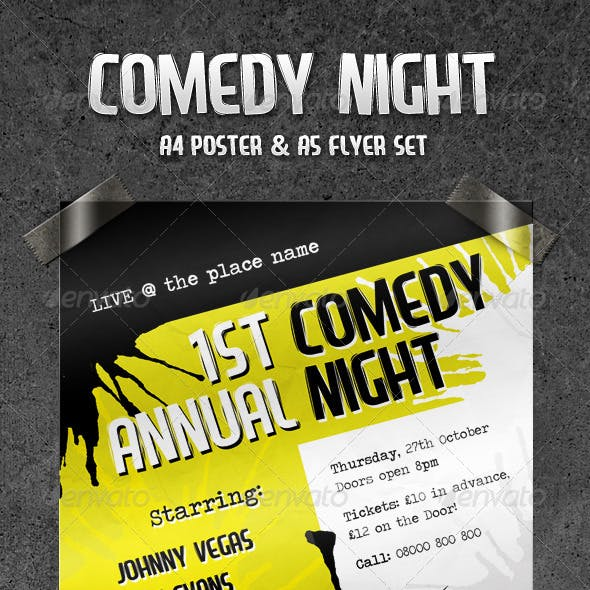 Comedy Night - Flyer & Poster Set