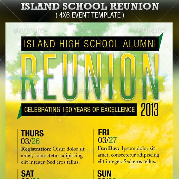 Island School Reunion Flyer Template
