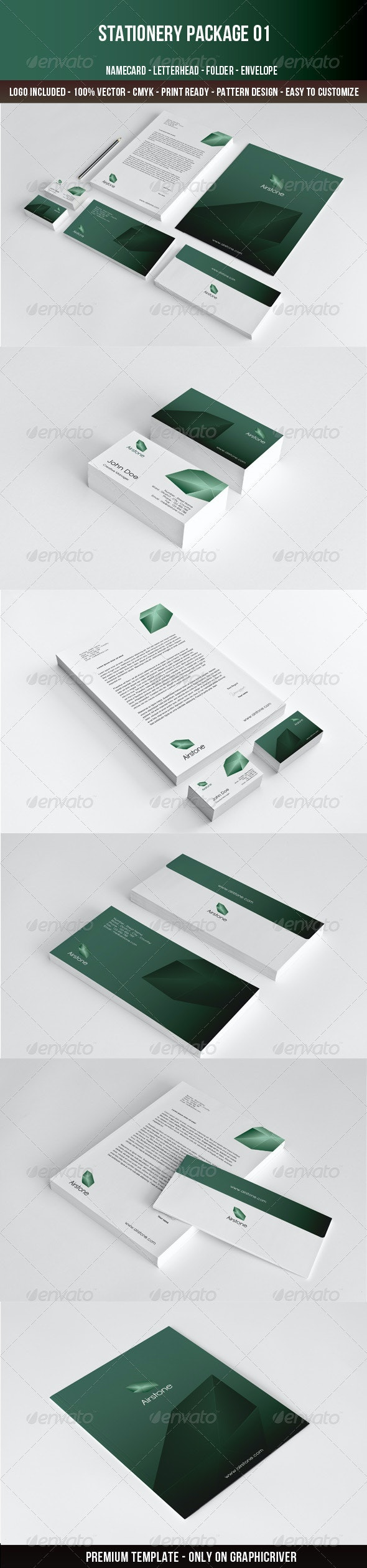 Airstone-Stationery - Stationery Print Templates