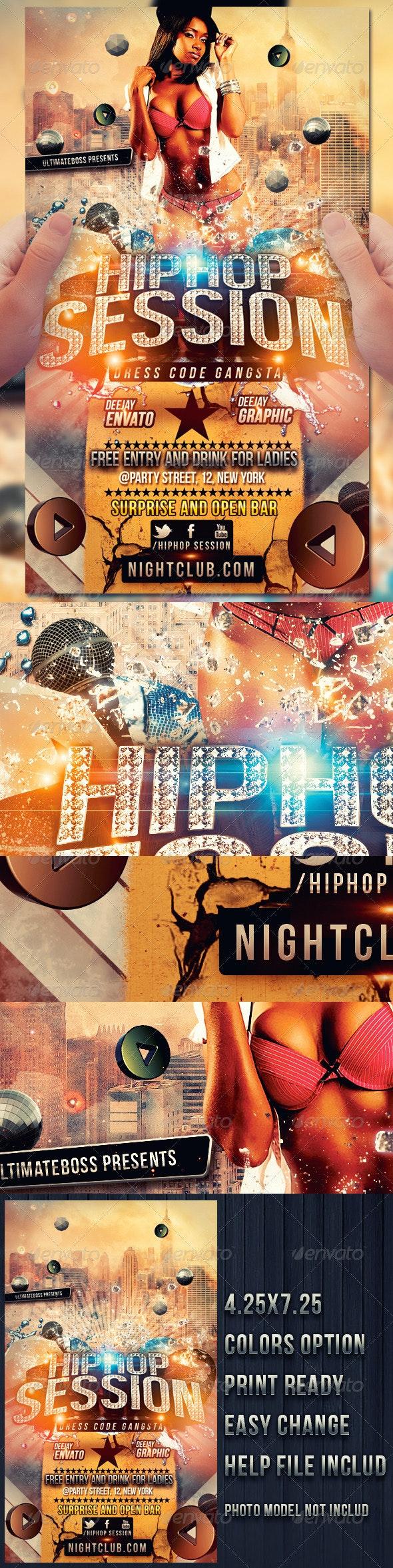 Hip Hop Session - Flyers Print Templates