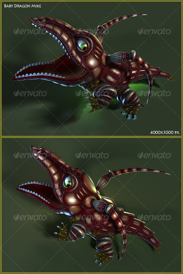 Baby Dragon Mike - 3D Renders Graphics