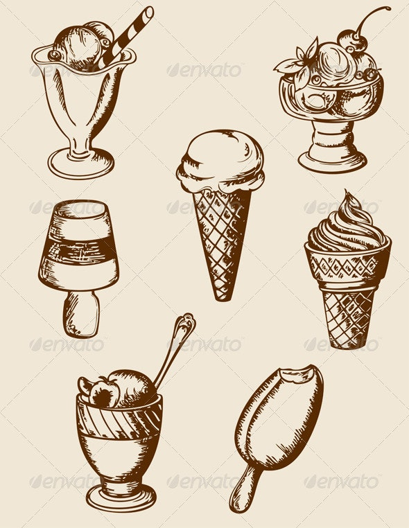 Vintage Ice Cream - Food Objects