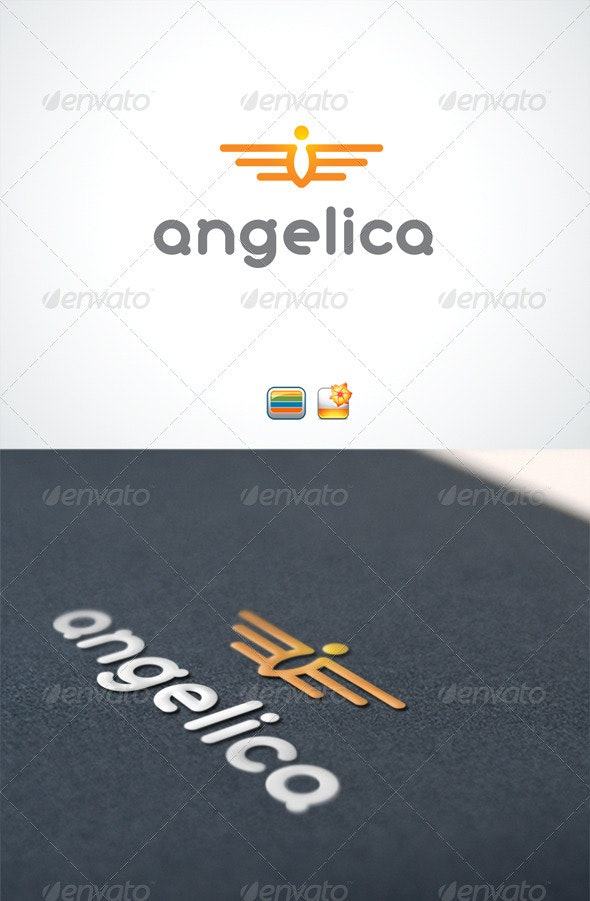 Angelica logo  - Humans Logo Templates